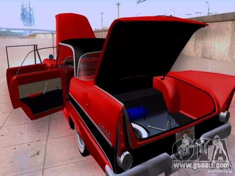 Plymouth Belvedere Sport Sedan 1957 for GTA San Andreas inner view
