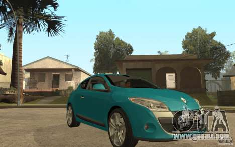 Renault Megane 3 Coupe for GTA San Andreas back view