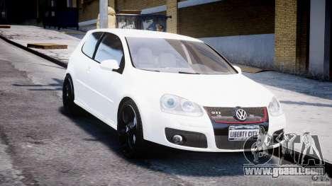 Volkswagen Golf 5 GTI for GTA 4 back view