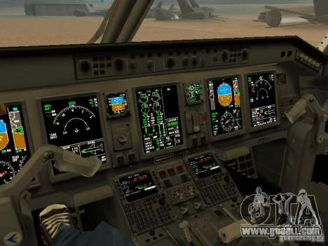 Embraer ERJ 190 Air Canada for GTA San Andreas inner view