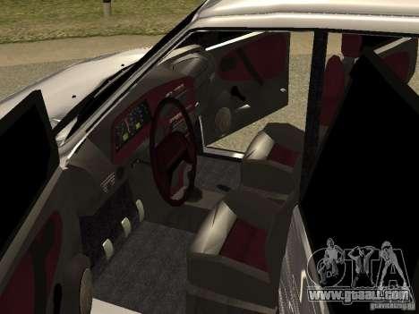 VAZ 2115 for GTA San Andreas inner view