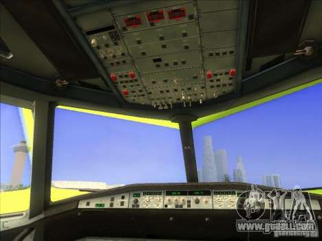 Airbus A-320 S7Airlines for GTA San Andreas back view