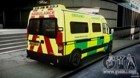 Renault Master 2007 Ambulance Scottish for GTA 4 side view