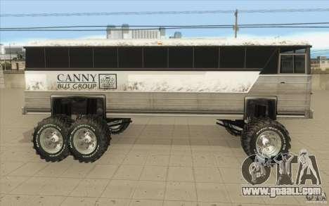 Bus monster [Beta] for GTA San Andreas left view