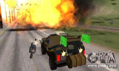 Death Car-death machine for GTA San Andreas sixth screenshot