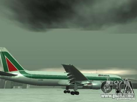 Boeing 767-300 Alitalia for GTA San Andreas interior