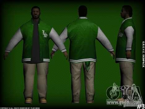 G.R.O.V.E. Skinpack for GTA San Andreas