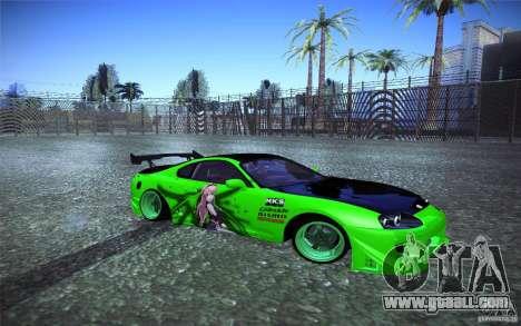 Toyota Supra Tuned for GTA San Andreas