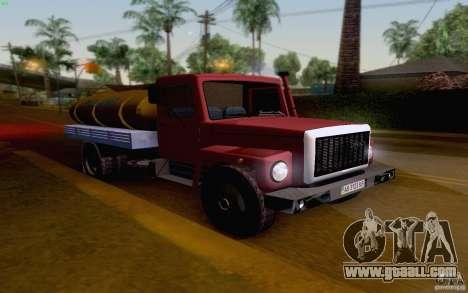 GAZ 3309 milk tanker for GTA San Andreas left view