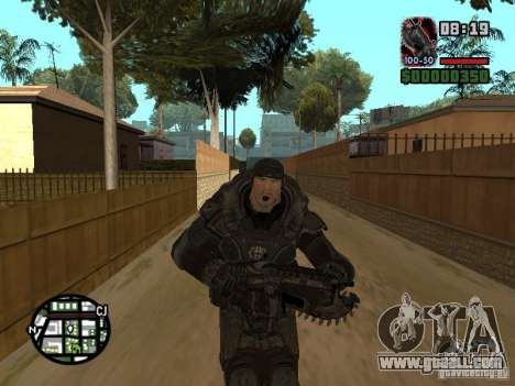 Marcus Fenix from Gears of War 2 for GTA San Andreas fifth screenshot