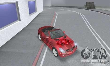 Mercedes-Benz SLK 350 for GTA San Andreas inner view