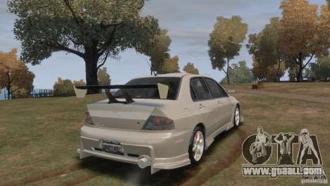 Mitsubishi Lancer Evolution VIII for GTA 4 left view