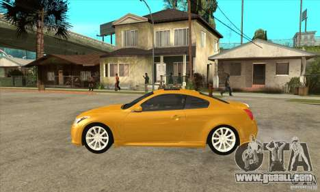 Infiniti G37 Coupe Sport for GTA San Andreas back left view