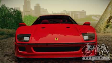 Ferrari F40 1987 for GTA San Andreas