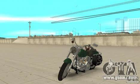 Harley Davidson FLSTF (Fat Boy) v2.0 Skin 1 for GTA San Andreas