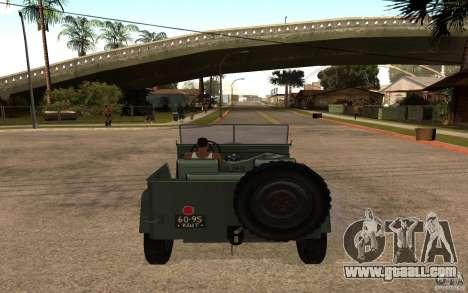 GAZ 67 b for GTA San Andreas back left view
