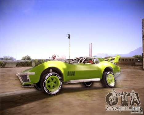 Chevrolet Corvette drag for GTA San Andreas left view