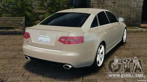 Audi RS6 2010 v1.1 for GTA 4 back left view