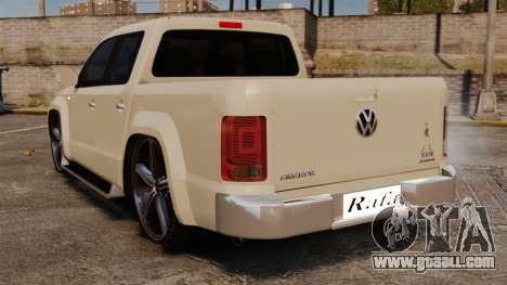 Volkswagen Amarok Light Tuning for GTA 4 back left view