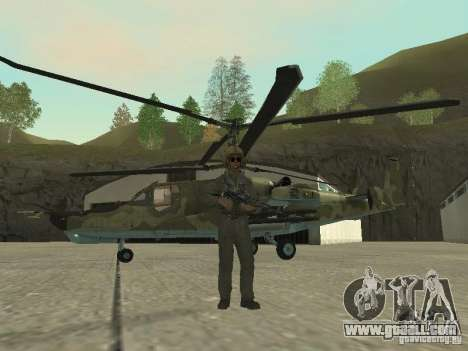 Ka-50 Black Shark for GTA San Andreas left view