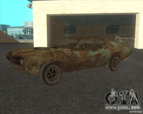 Ford Torino extreme rust 1970 for GTA San Andreas inner view