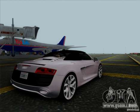 Audi R8 Spyder for GTA San Andreas back view