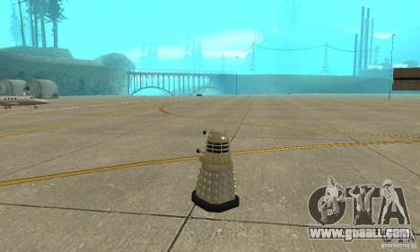 Dalek Doctor Who for GTA San Andreas back left view
