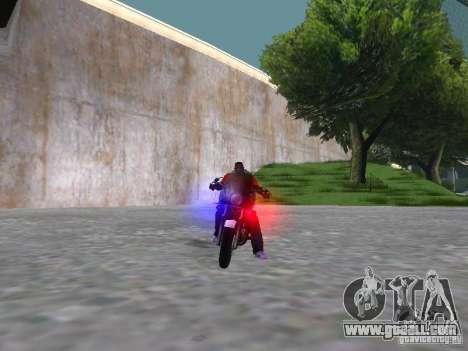 Harley Davidson Dyna Defender for GTA San Andreas inner view