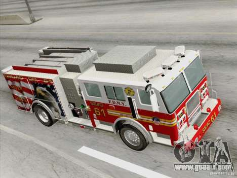 Seagrave Marauder. F.D.N.Y. Squad 61. for GTA San Andreas inner view