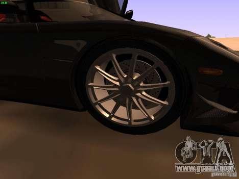Koenigsegg CCXR Edition for GTA San Andreas interior