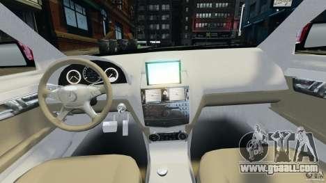Mercedes-Benz C350 Avantgarde v2.0 for GTA 4 back view