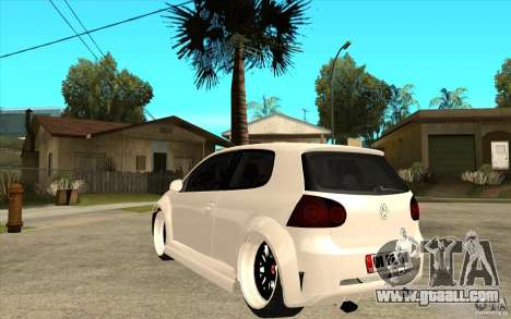 VW Golf 5 GTI Tuning for GTA San Andreas back left view