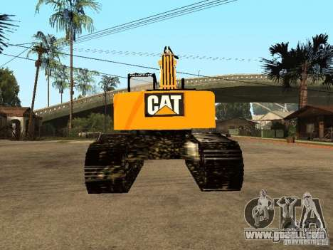 Excavator CAT for GTA San Andreas back left view