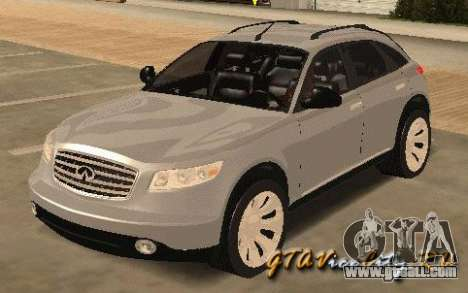 INFINITY FX45 for GTA San Andreas left view