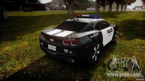 Chevrolet Camaro Police (Beta) for GTA 4 side view