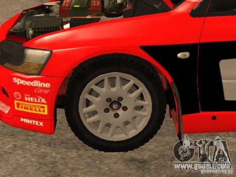 Mitsubishi Lancer Evo IX DiRT2 for GTA San Andreas interior