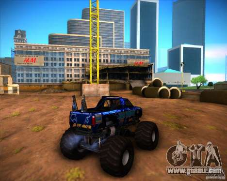 Monster Truck Blue Thunder for GTA San Andreas right view
