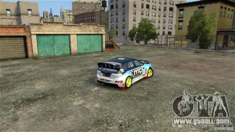 Subaru Impreza WRX STI Rallycross KMC Wheels for GTA 4 side view