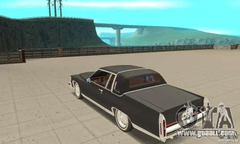 Cadillac Coupe DeVille 1985 for GTA San Andreas back left view