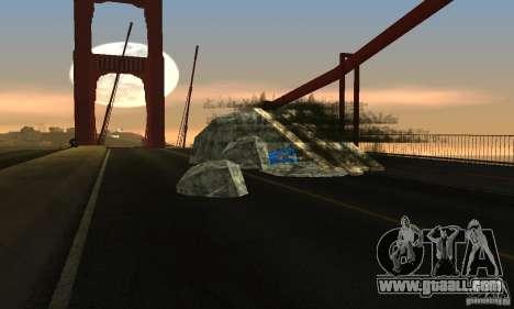 Destroyed bridge in San Fierro for GTA San Andreas second screenshot