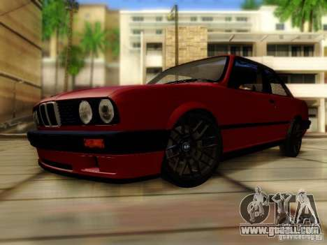 BMW E30 for GTA San Andreas back left view