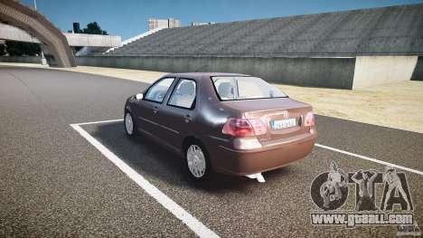 Fiat Albea Sole (Bug Fix) for GTA 4 back left view