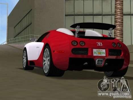 Bugatti Veyron EB 16.4 for GTA Vice City back left view