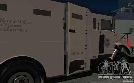 Securicar from GTA IV for GTA San Andreas inner view