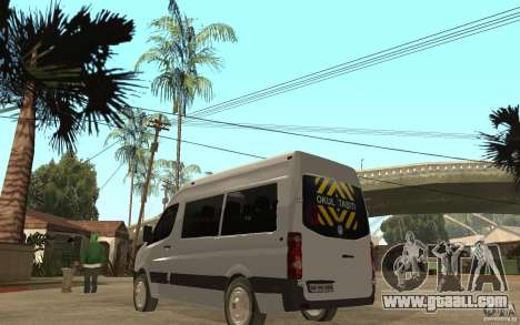 Volkswagen Crafter school bus for GTA San Andreas back left view
