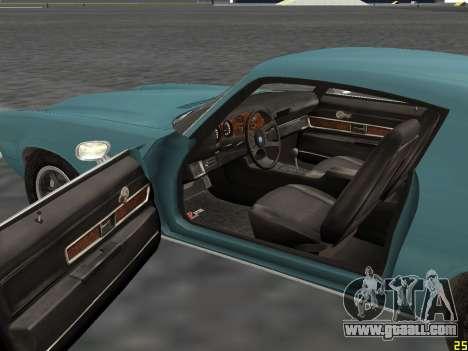 Chevrolet Camaro Z28 1971 for GTA San Andreas back view