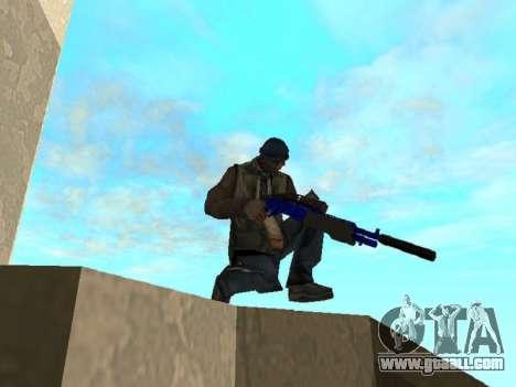 Blue and black gun pack for GTA San Andreas sixth screenshot