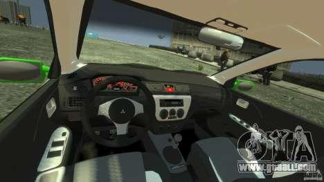 Mitsubishi Lancer Evo IX Tuning for GTA 4 right view