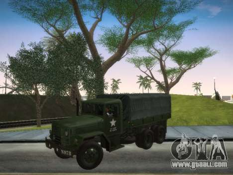 AM General M35A2 for GTA San Andreas back left view