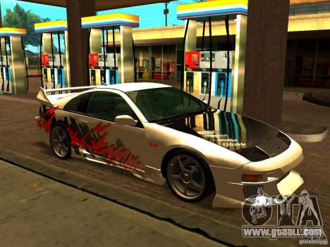 Nissan 300ZX for GTA San Andreas side view